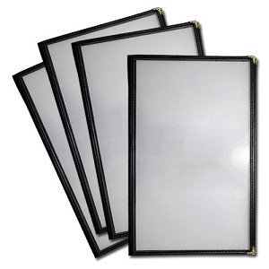 5.5x8.5 Sewn Edge Vinyl Menu Jackets, 6 View - Case of 25