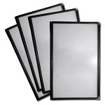 8.5x14 Sewn Edge Vinyl Menu Jackets, 4 View - Case of 25